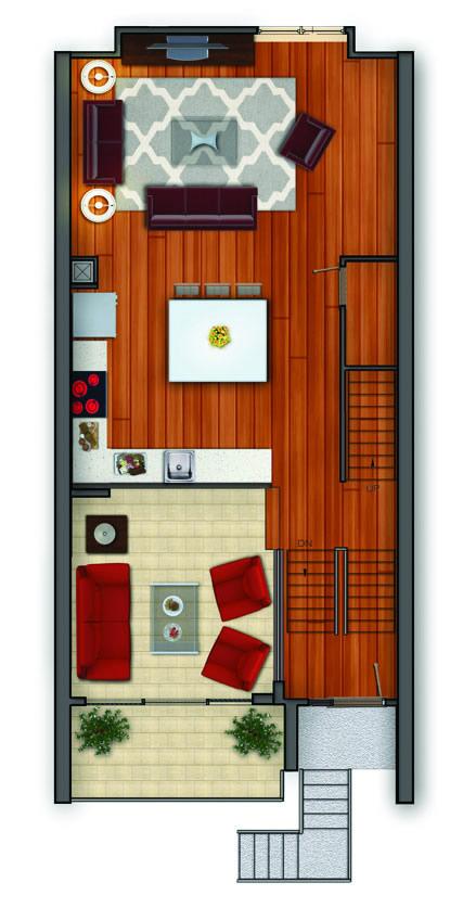 Lumina Townhome Charlotte Example Floorplan