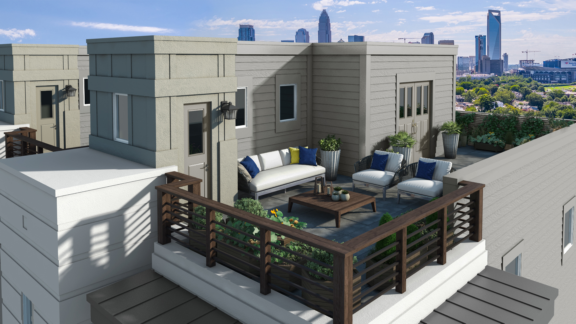 Uptown West Terraces Charlotte Townhomes Center City Living